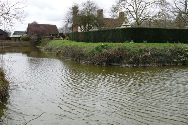 Moat at Wyddial Hall